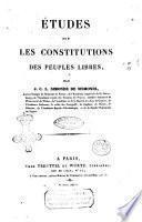 Etudes sur les sciences sociales par J. C. L. Simonde de Sismondi