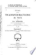 Études sur les transformations de Paris