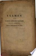 Examen de plusieurs assertions hasardées par J.-F. La Harpe dans sa Philosophie du 18e siècle