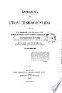 Explication de l'Évangile selon Saint Jean