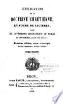 Explication de la doctrine chrétienne en forme de lectures, tirée du catéchisme...