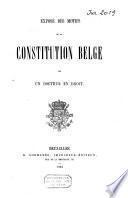 Exposé des motifs de la constitution belge