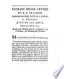 Extrait d'une lettre du R. P. Le Sueur, chanoine regulier, curé de S. Euverte, a Orleans, a un de ses amis, Dattée [sic] du 7 février 1733. Au sujet du Miracle operé le 28 Janvier 1733. à Orleans, sur Mademoiselle Richome