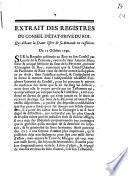 Extrait des registres du Conseil d'État-Privé du Roy, qui déboute la dame issert de sa demande en cassation. Du 13 octobre 1749