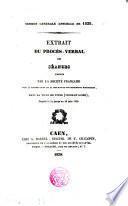 Extrait du procés verbal des seances tenues par la Societé Française pour la Conservation et la description des monuments historiques, dans la ville de Tours