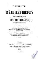 Extraits de mémoires inédits de feu Claude-Victor Perrin, Duc de Bellune