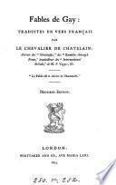 Fables, tr. en vers fr. par le chevalier de Chatelain
