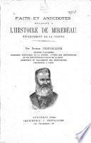 Faits et anecdotes relatifs à l'histoire de Mirebeau, dèpartement de la Vienne