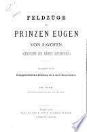 Feldzüge des Prinzen Eugen von Savoyen