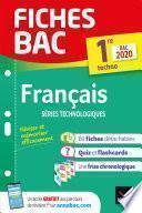 Fiches bac Français 1re technologique Bac 2020
