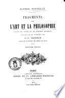 Fragments sur l'art et la philosophie suivis de notes et de pensées diverses Alfred Tonnellé