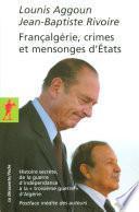 Françalgérie, crimes et mensonges d'États