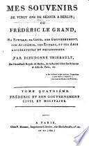 Frédéric et son gouvernment civil et militaire