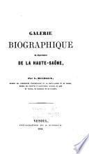 Galerie biographique du département de la Haute-Saône