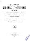 Gazette judiciaire et commerciale de Lyon