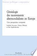 Généalogie des mouvements altermondialistes en Europe