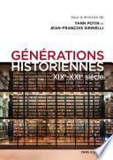 Générations historiennes XIXe - XXIe siècle