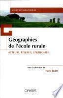Géographies de l'école rurale