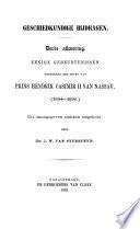 Geschiedkundige bijdragen, uit onuitgegeven stukken bewerkt door J.W. van Sypesteyn