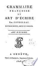 Grammaire françoise et art d'écrire