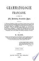 Grammatologie française