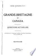 Grande-Bretagne et Canada, questions actuelles