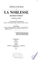 Grandeur et décadence de la noblesse chevaleresque et communale