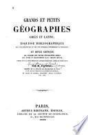 Grands et petits géographes grecs et latins