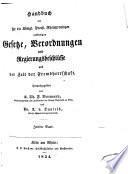 Handbuch der für die Königl. Preuss. Rheinprovinzen verkündigten gesetze, verordnungen und regierungsbeschlüsse aus der zeit der frendherrschaft