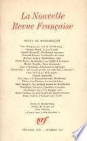 Henry de Montherlant N° 242