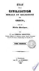 Histoiæ de la civilisation morale et religieuse des Grecs