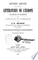 Histoire abrégée des principales littératures de l'Europe ancienne et moderne