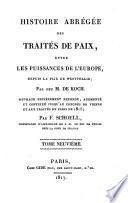 Histoire abrégée des traités de paix, entre les puissances de l'Europe, depuis la paix de Westphalie
