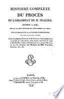 Histoire complète du procès de l'assassinat de M. Fualdès