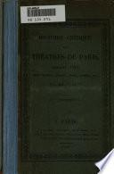 Histoire critique des théatres de Paris, pendant 1821
