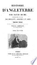 Histoire d'Angleterre ... continuée jusqu'à nos jours par Smollett, Adolphus et Aikin. Traduction nouvelle précédée d'un essai sur la vie et les écrits de Hume, par M. Campenon