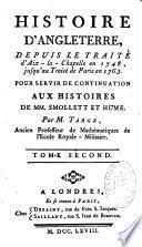 Histoire d'Angleterre, depuis le traité d'Aix-la-Chapelle en 1748 jusqu'au traité de Paris en 1763