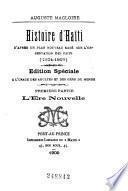 Histoire d'Haïti d'après un plan nouveau basé sur l'observation des faits (1804-1909)