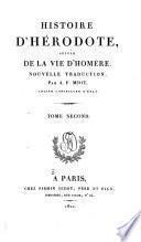 Histoire d'Hérodote suivie de la vie d'Homère