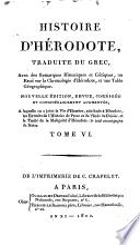 HISTOIRE D'HERODOTE TOME VI
