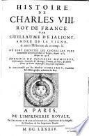 Histoire de Charles VIII par Guillaume de Jaligny