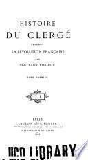 Histoire de clergé pendant la Révolution française