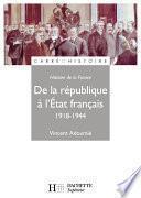 Histoire de France : De la république à l'État français 1918-1944