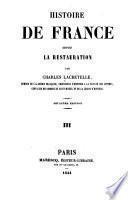 Histoire de France, depuis la restauration
