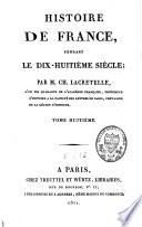 Histoire de France, pendant le dix-huitième siècle