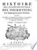 Histoire de l'Académie royale des inscriptions et belles lettres