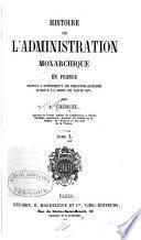 Histoire de l'administration monarchique en France