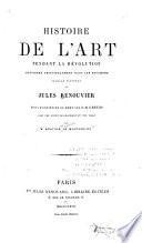 Histoire de l'art pendant la revolution