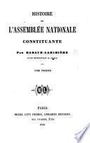 Histoire de l'Assemblée nationale constituante