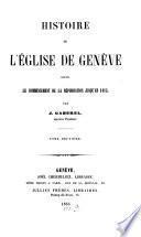 Histoire de l'église de Genève
